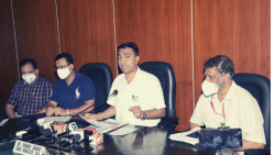 Chief Minister Pramod Sawant speaking to reporters after cabinet meeting on Wednesday, Septem 15, 2021