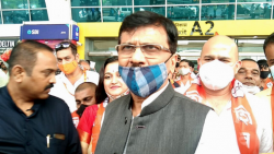 Shiv Sena MP Sanjay Raut arrived in Goa for a two-day visit on Wednesday, September 29, 2021