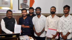 The National Student's Union of India (NSUI) Goa activists met Governor PS Sreedharan Pillai on Wednesday