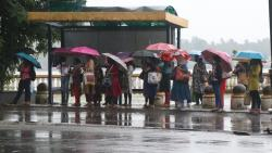 Goa has experienced varying amounts of rain throughout the day on Monday