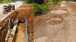 The main road from Patradevi to Dhargal in Pernem Taluka