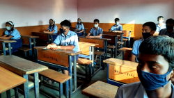 schools in Goa have reopened for students 9 to 12 standards on Monday