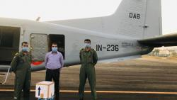 COVID-19 testing kits collected and transported from NIV, Pune by Navy and DHS staff