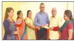 Former students donate another one lakh to ailing student