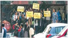 Police file FIR, anguished students stage protest