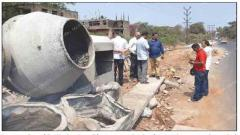 SCM stops construction work of nullah at Margao