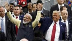 Divided India greeted Trump
