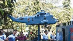 Indian navy float and display at Vasco Carnival
