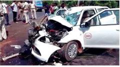 Driver killed, four injured in accident at Verna