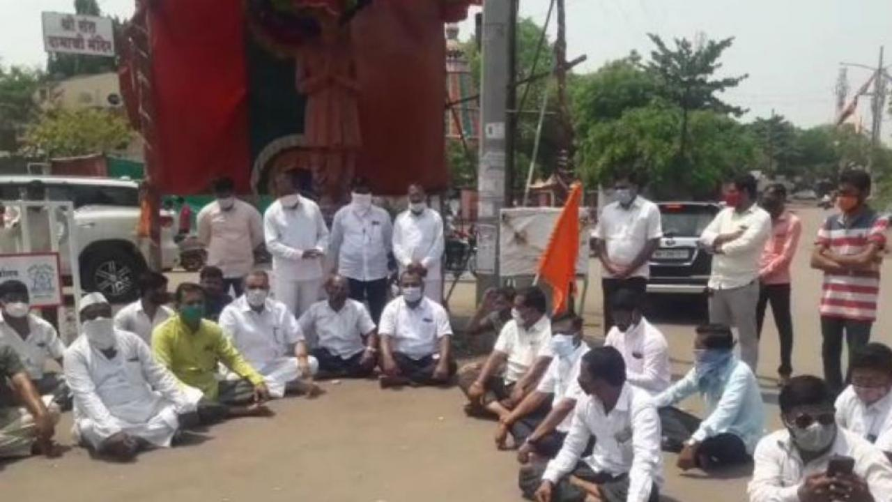 Agitation for Maratha Reservation in Pandharpur