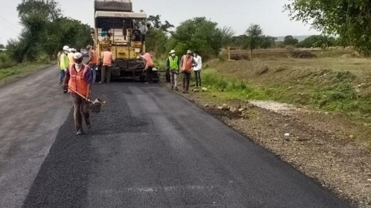 Limca Book of Record of 40 km road constructed in 24 hours in the satara