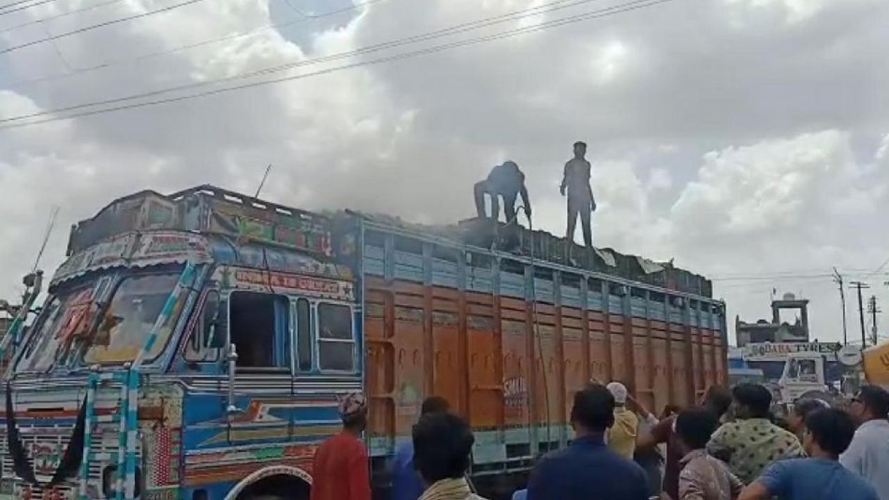 The fire was extinguished with the help of locals