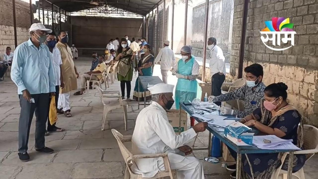 The whole village in Manchar has an antigen test