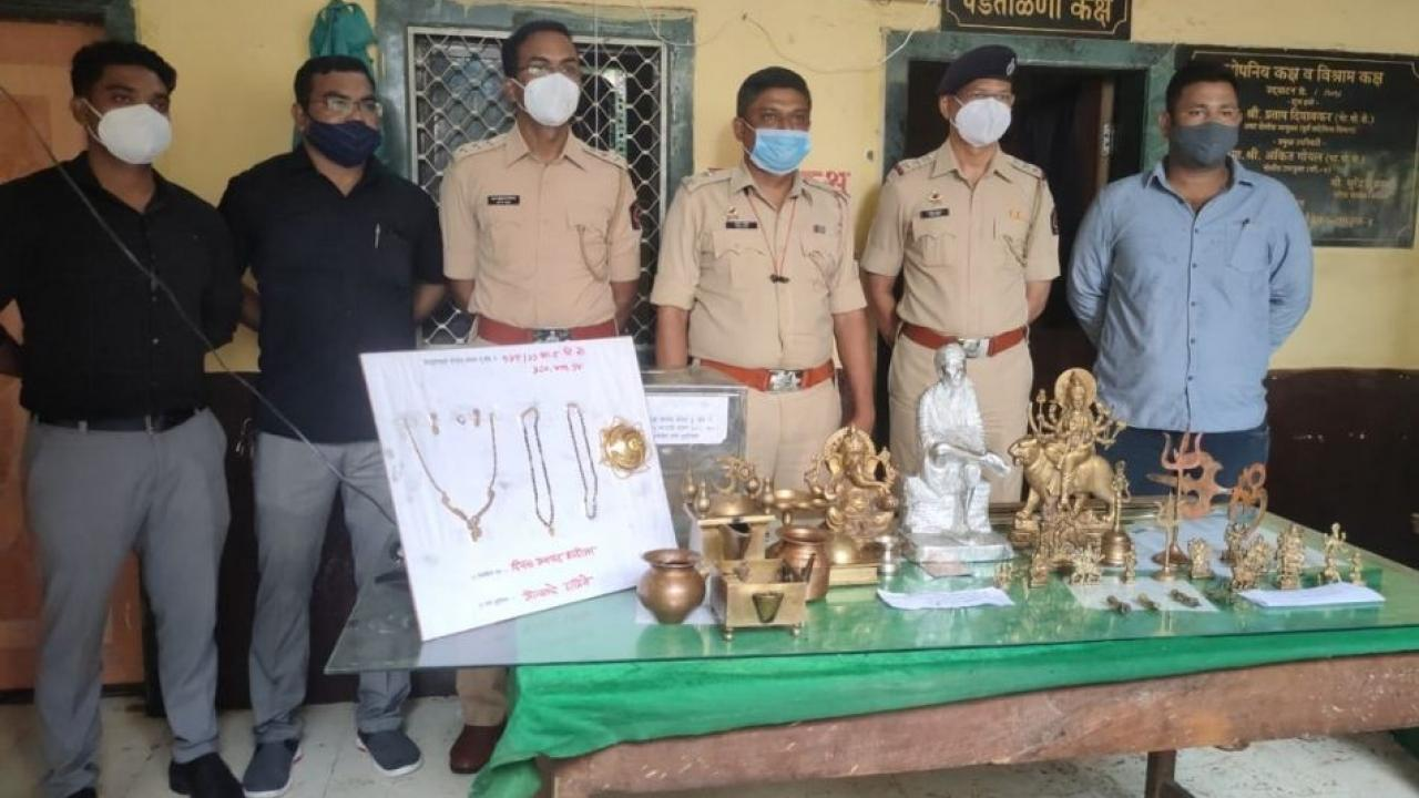 The investigation of theft at the temple was completed in 4 hours