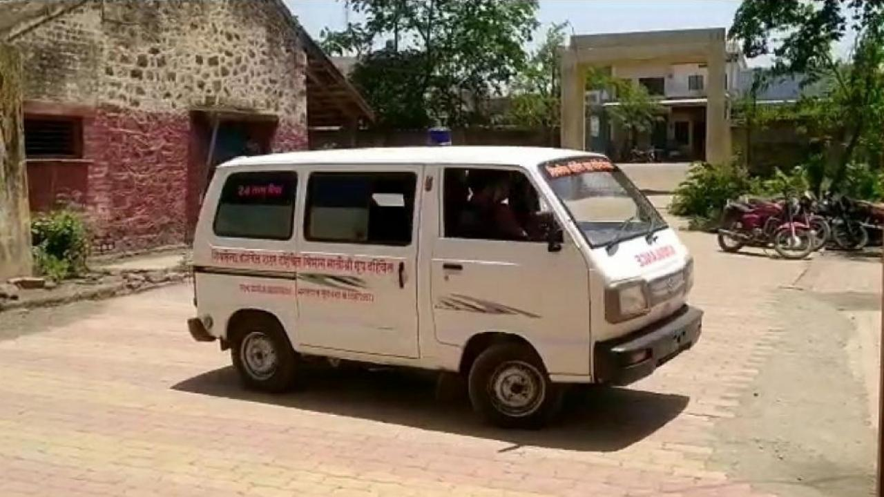Relief to relatives as Ambulance are available in remote area of Dhule