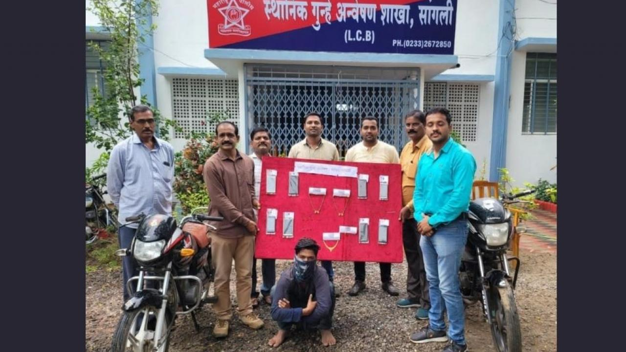 Thief has been arrested by Sangli local crime branch