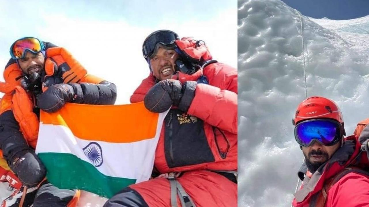 Annapurna 1 expedition of Mount Everest the highest peak in the world by a young man from Shirur