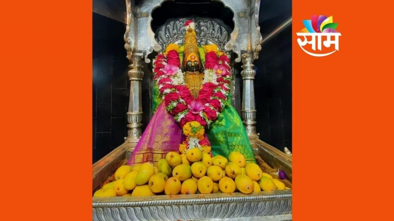 Mango Decoration at Tuljabhavani Mandir