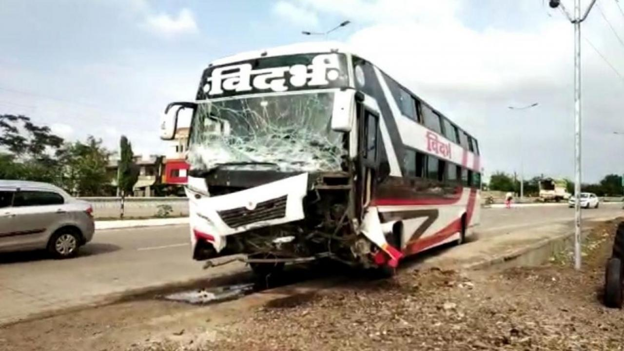 Terrible accident of private bus and cruiser jeep