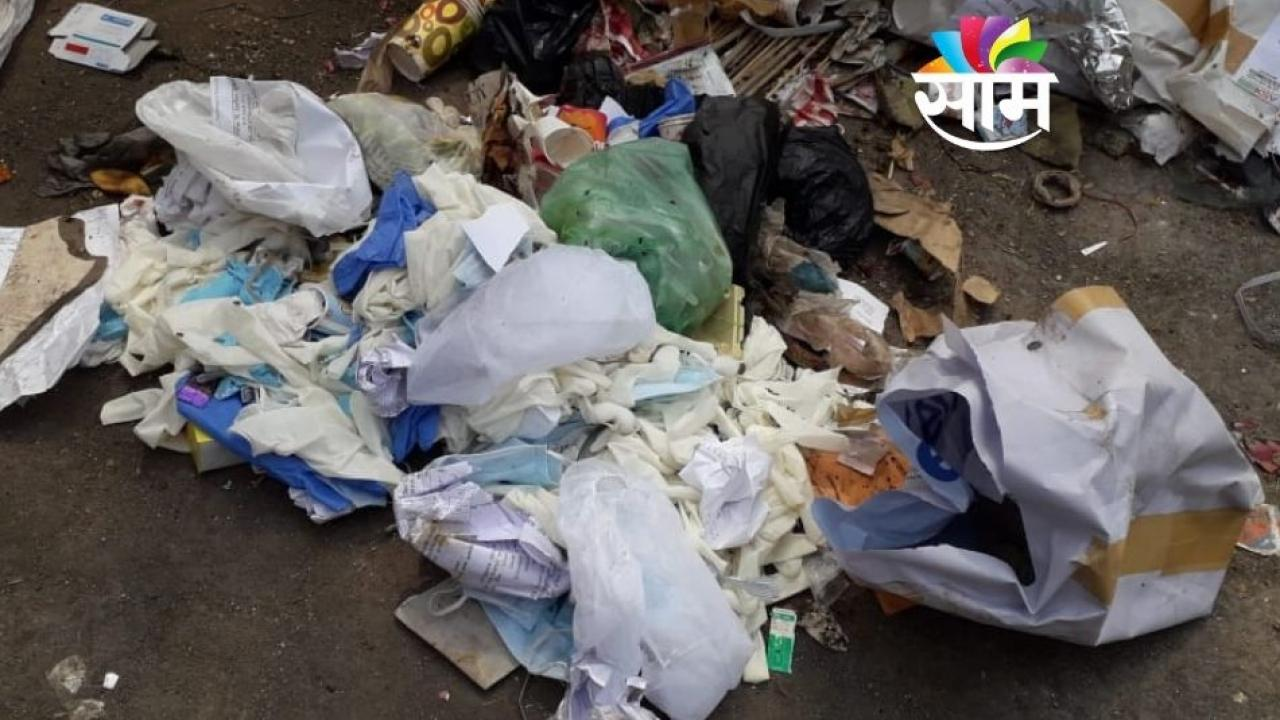 Used Masks PPE Kits Thrown in Garbage at Dombivali