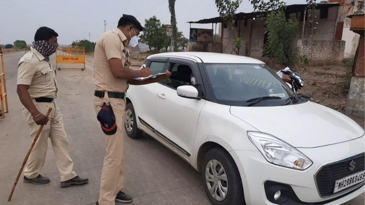 Strict police guard on the border of Marathwada divisional and Buldhana district