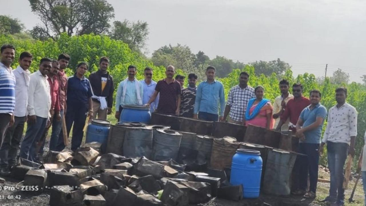 Liquor with moh sadva were destroyed by police