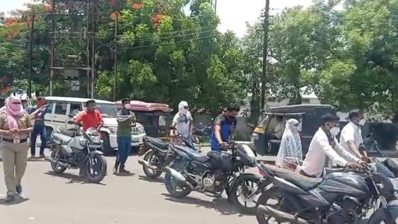 Action against 80000 vehicle owners in 3 months of Corona