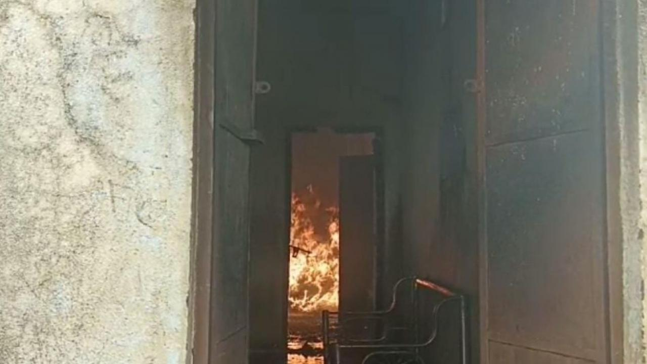 Damage to farmer due to fire in domestic warehouse