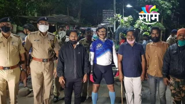 PCMC police Commissioner Visited Police Station riding Bicyle