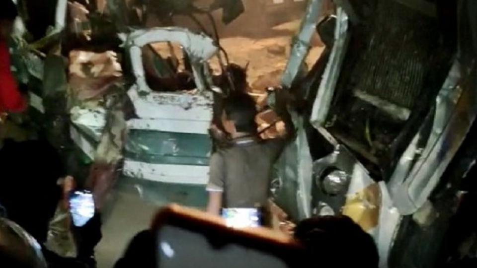 Terrible accident in Kanpur