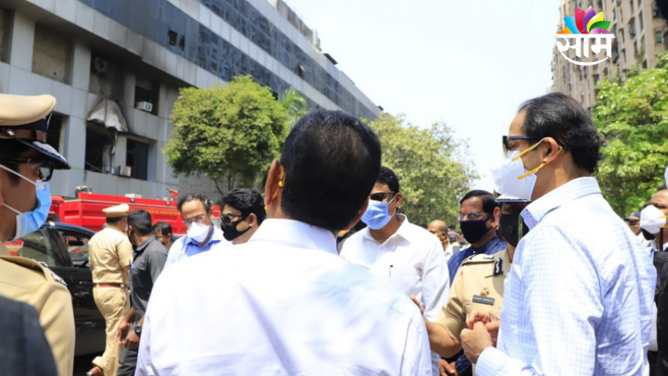 CM Uddhav Thackeray Visit to Bhandup Fire Incident Place