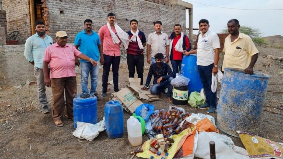Fake liquor factory demolished by Songir police