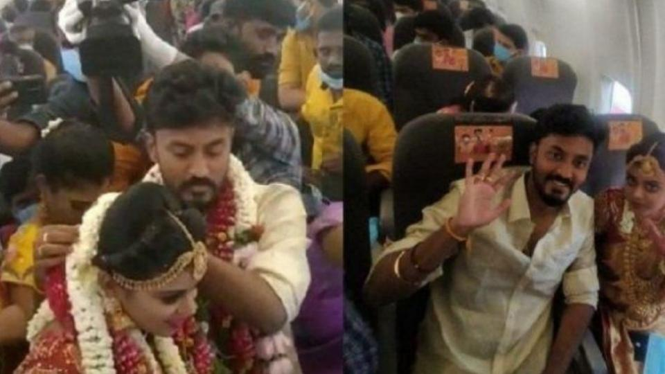 marriage in plane