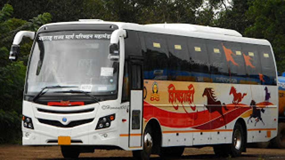 marathi news First pay only then ; will remove the car :demand for Shivshahi bus driver