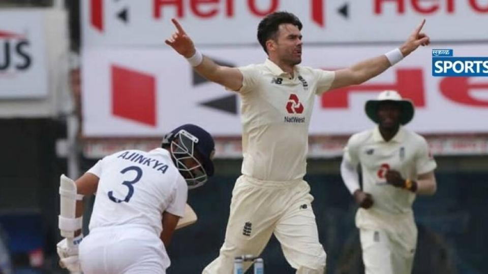 INDvsENG, Motera pitch, James Anderson