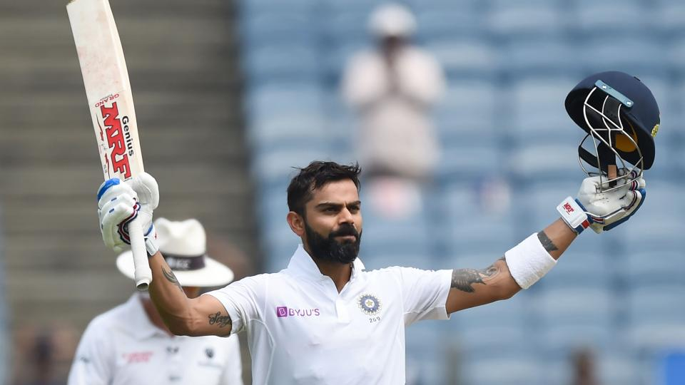 Virat kohli equals the record of steve smith of most centuries