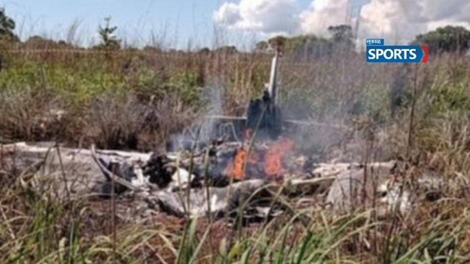Palmas football players, Brazil plane crash