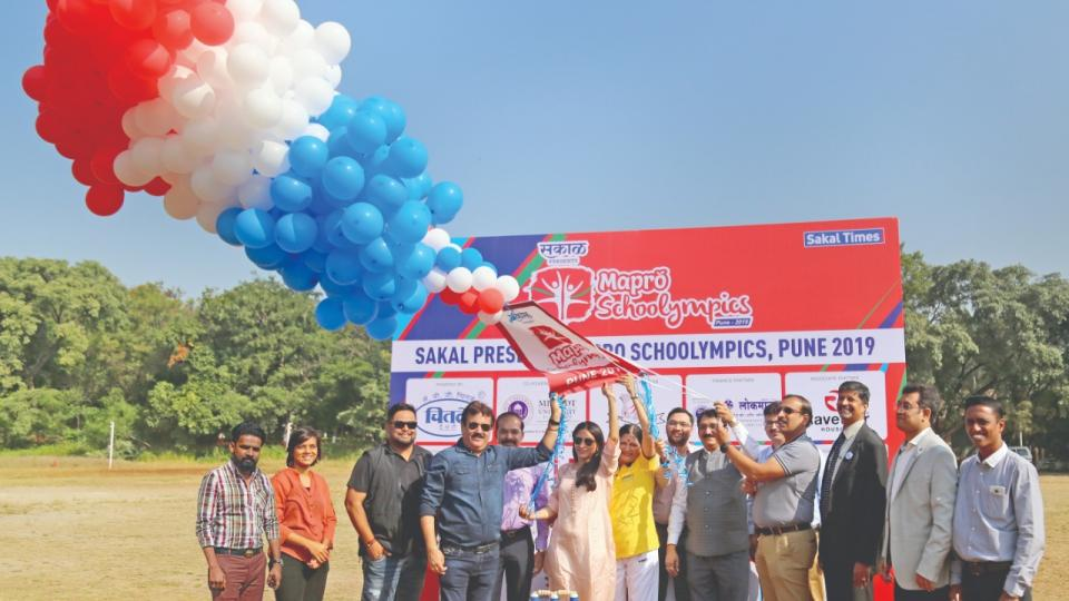 Inauguration of schoolympics by Sakal in Pune