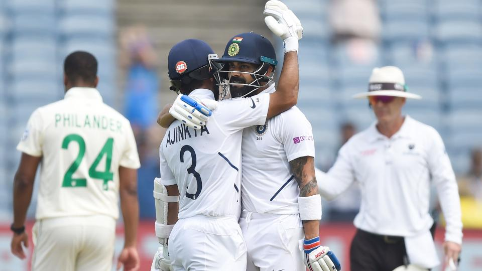 India Scores 356 runs on day 2 against South Africa in Pune