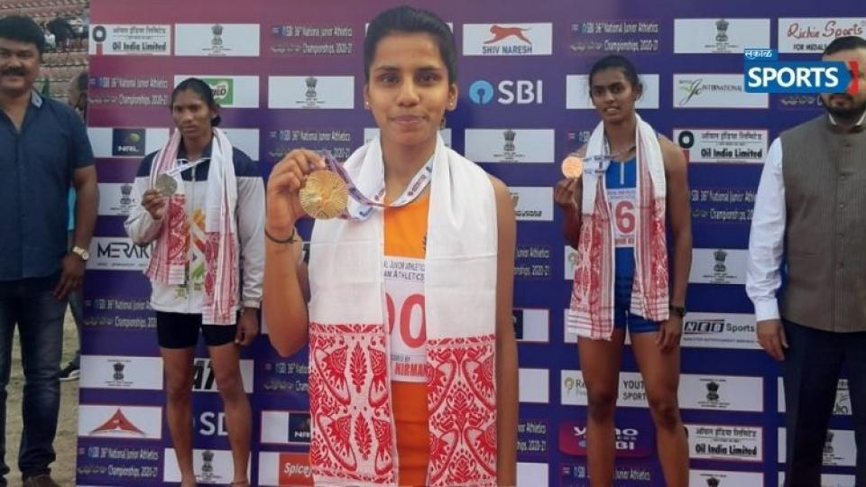 Sudeshna Shivankar, Satara, Win Gold and bronze,national junior athletics guwahati
