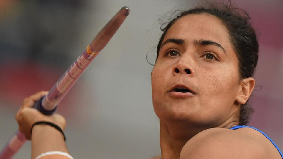 Indias Annu Rani competes in the Women Javelin Throw heats at the 2019 IAAF Athletics World Championships  in Doha