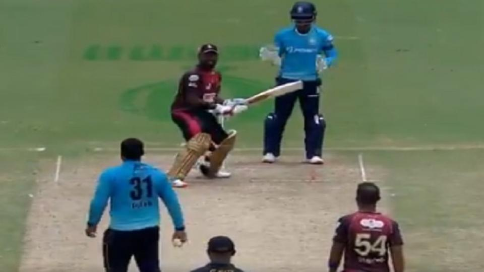 caribbean premier league 2020,tkr vs stz, final Javelle Glenn,Darren Bravo, Viral Video