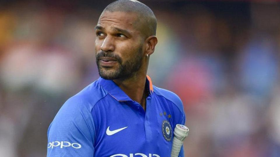 dhawan ruled out because of injury. jpg