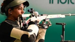 shooting world cup,sanjeev rajput,tejaswini sawant win 50m rifle 3 positions mixed team,gold