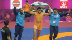 Sunil Kumar wins a gold medal in greco roman at Asian Wrestling Championships