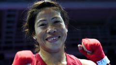 Mary Kom wins a gold medal in Indonesia Boxing
