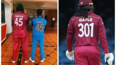 Chris Gayle changes his Jersey Number in 3rd match against India