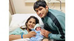 Indian wrestler Geeta Phogat gave birth to a baby boy on Tuesday