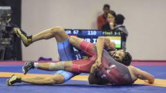 India wins 3 bronze medal in asian wrestling championship