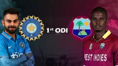 India Vs West Indies, Live Cricket Score, IND vs WI 1st ODI
